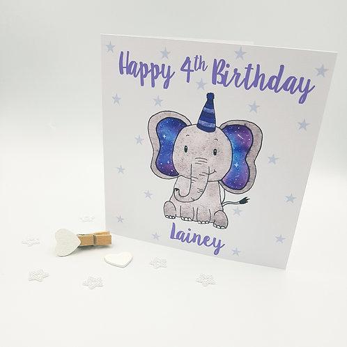 Galaxy Elephant Card