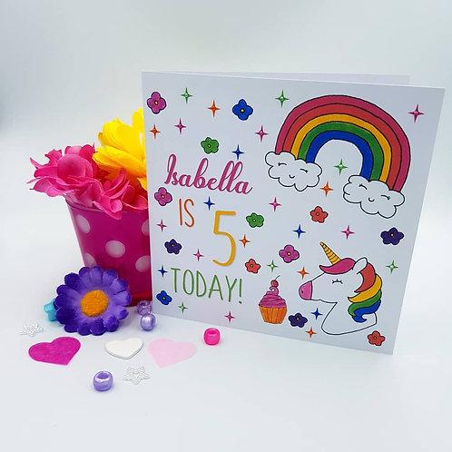 Bright Unicorn Card