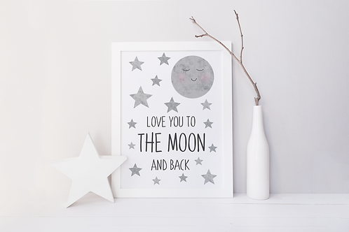 LY to the Moon Print