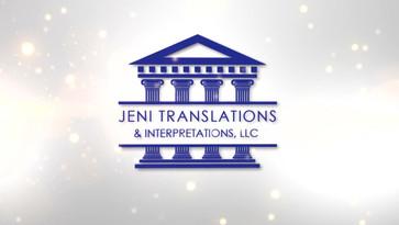 JENI TRANSLATIONS LOGO DESIGN AND FULL MARKETING