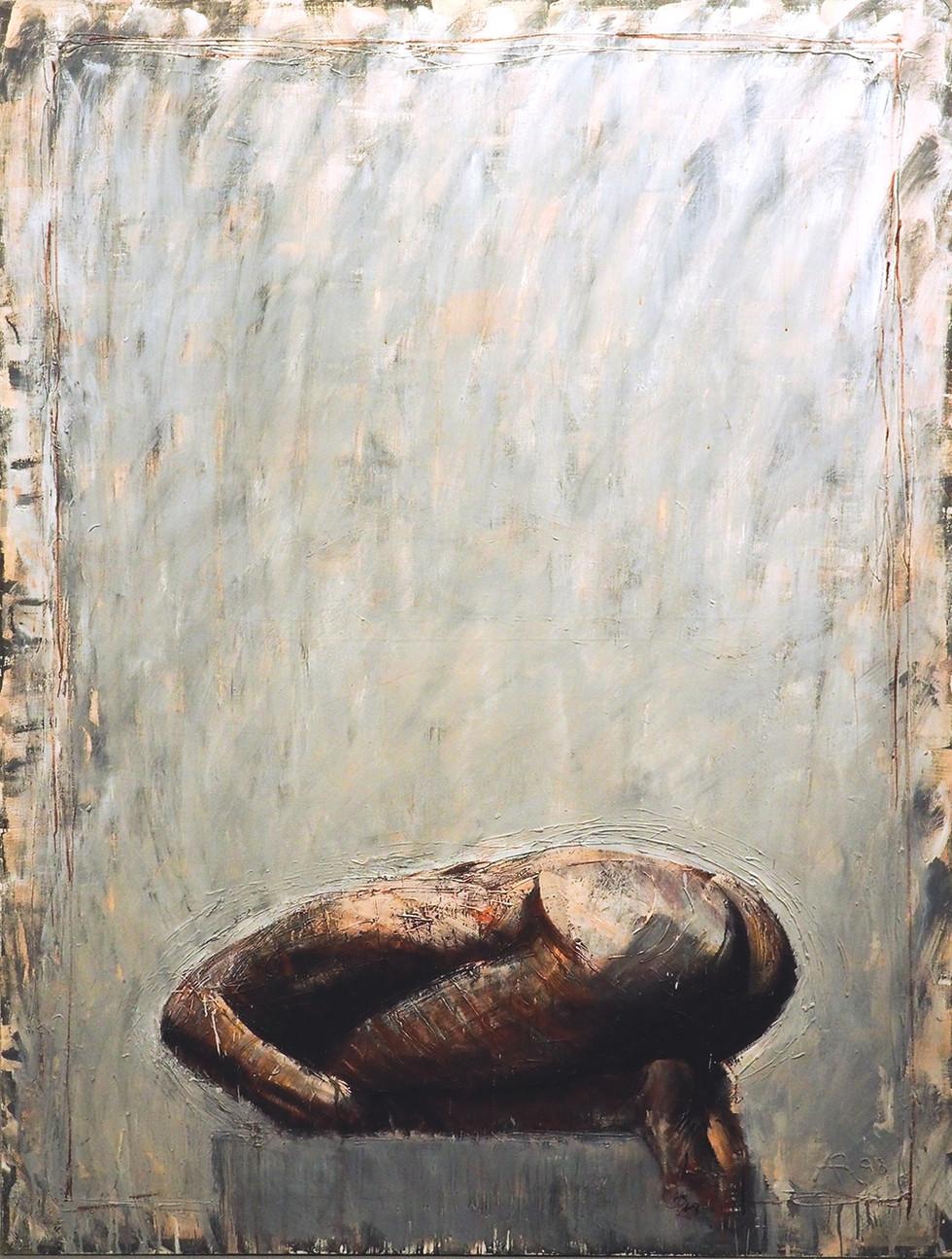 """""""Postać skulona"""", 1988 r."""