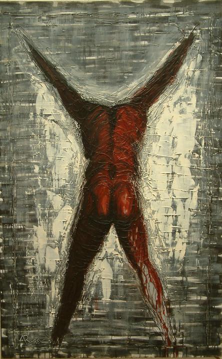 """""""Postać z podniesionymi rękoma"""", 1988 r."""