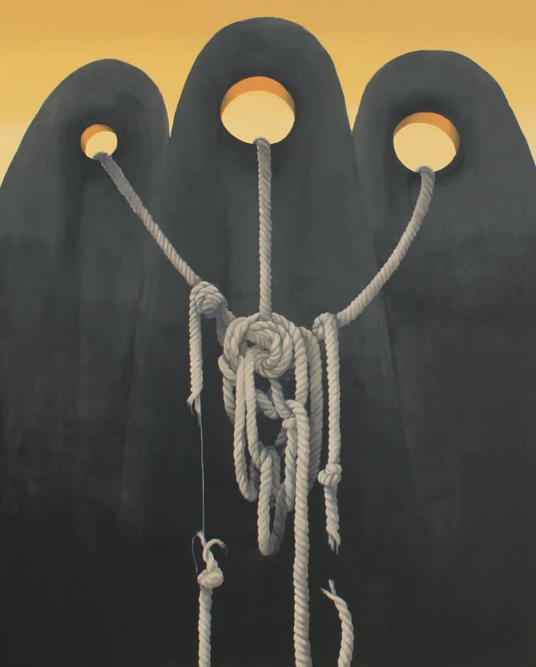 """""""Rodzanice"""", 2020 r. akryl/płótno, 150 x 120 cm"""