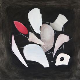 """Irmina Staś, """"Organizm 90"""", z cyklu """"Przemiana materii"""", 2015, olej na płótnie, 160 x 160 cm"""