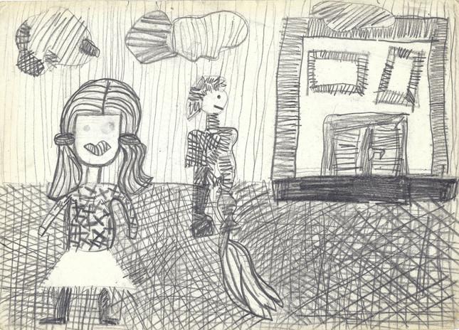 Bez tytułu, 1982 r., ołówek/papier, 21 x 29,7 cm