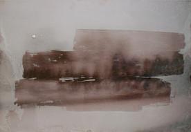 """Julia Słonecka, """"Nic nie widzę"""", 2015, akryl, wydruk fotografii na papierze na pleksi, 70 x 100 cm"""