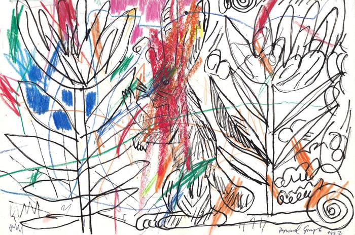 Bez tytułu, 1992 r., ołówek, kredka/papier, 21 x 29,7 cm
