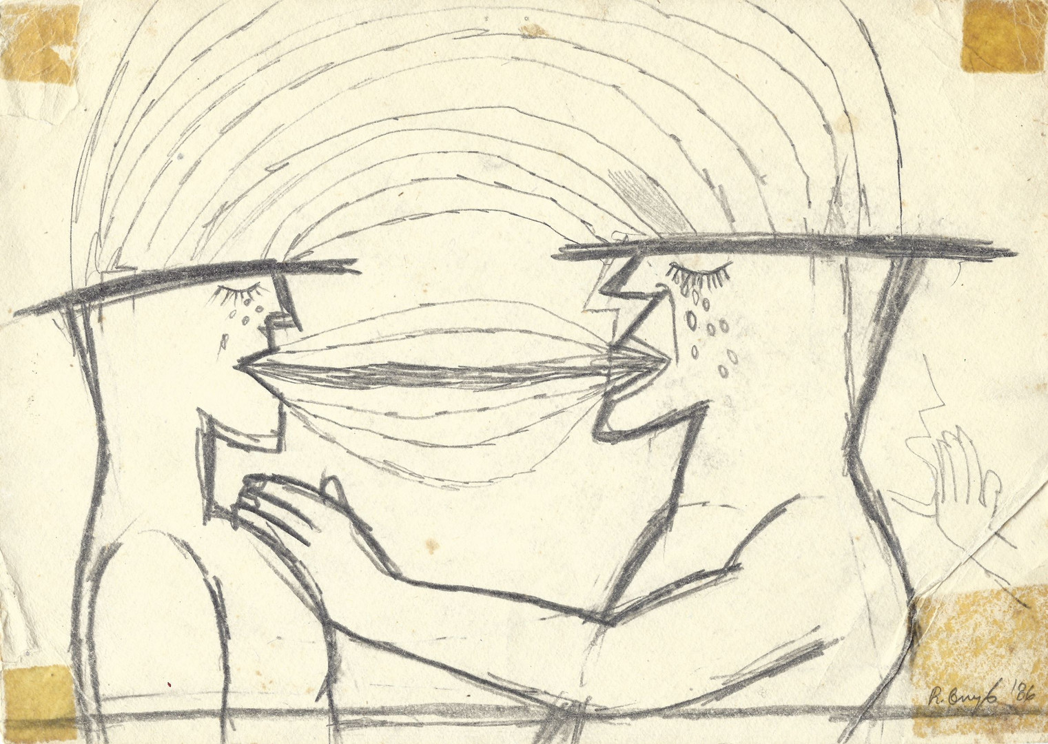 Untitled, 1986, pencil on paper, 21 x 29,7 cm