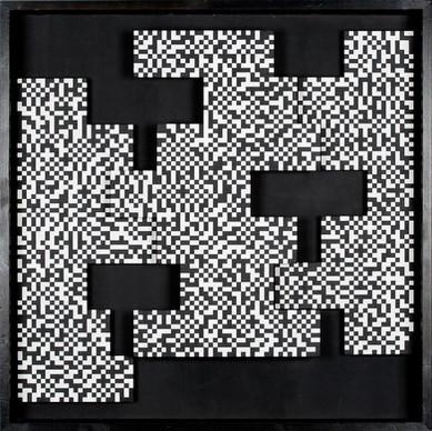 """Ryszard Winiarski, """"Penetration of Real Space"""", 1975 r., relief, akryl/płyta pilśniowa, 92 x 92 cm, Kolekcja NOWA 20_21"""