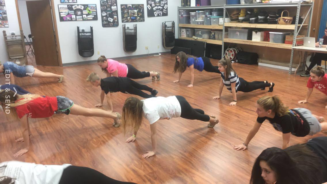 Kids rehearsing on the new floor