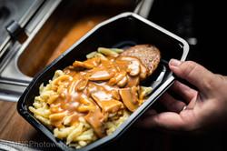 Fleischküchle mit Champignonsauce
