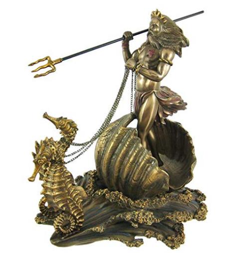 neptune, poseidon, seahorse chariot
