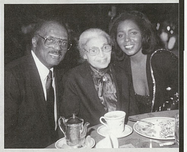 Curt & Judy with Rosa Parks  Photo Courtesy of Judy Pace Flood