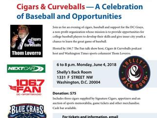 Monday June 4th: DC Grays fundraiser for baseball & inner city kids
