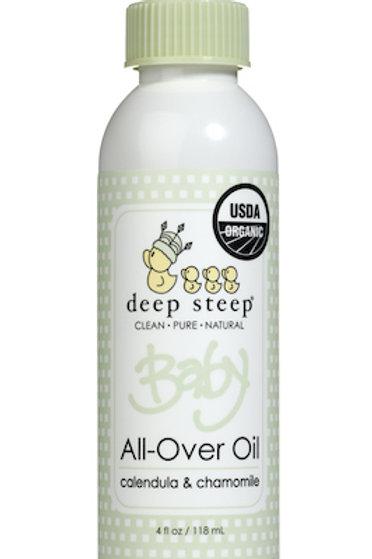 Aceite Corporal orgánico Deep Steep Baby -Calendula y Manzanilla