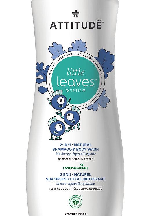 Shampoo & gel de baño natural Attitude - Arándano (473ml)