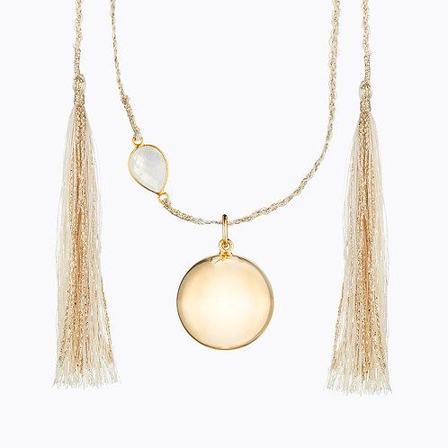 Llamador de Ángeles Maya Pink Gold con cuarzo