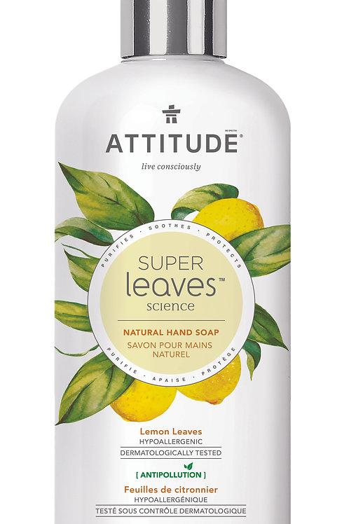 Jabón de manos natural Attitude -Hojas de Limón 473ml