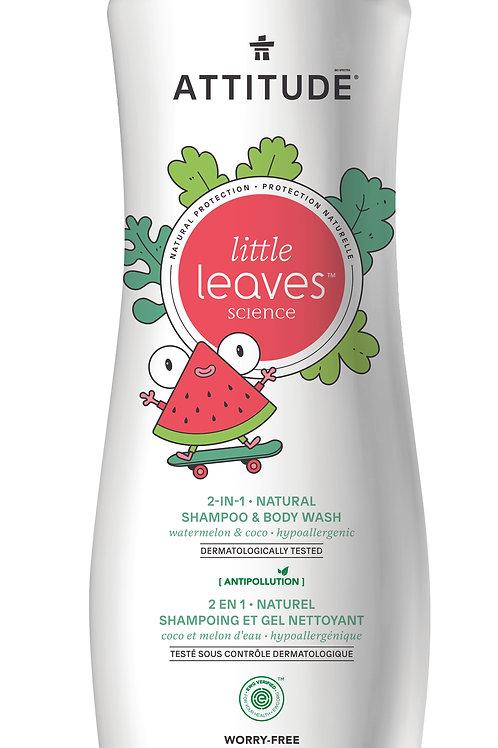 Shampoo & gel de baño natural Attitude - Sandia y Coco (473ml)