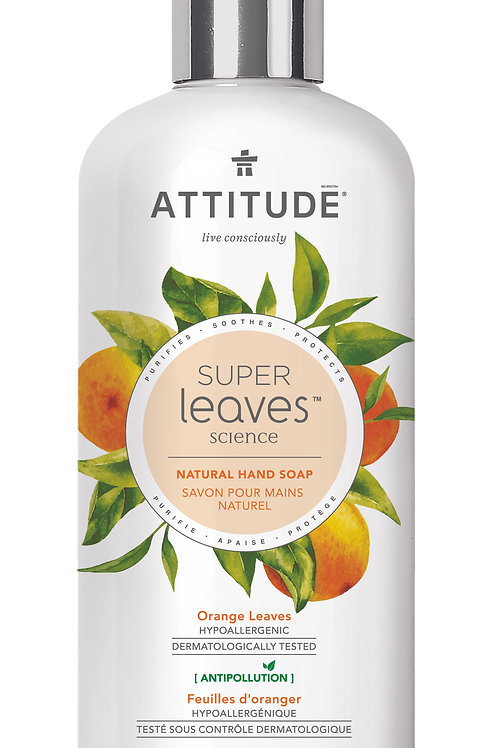 Jabón de manos natural Attitude - Hojas de Naranjo 473ml