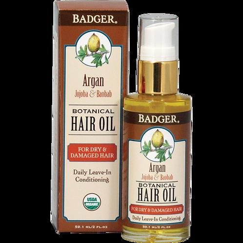 Aceite Orgánico de Argán para el cabello 59.1 ml - Badger