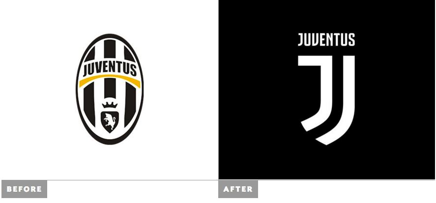 Juventus old and new logo