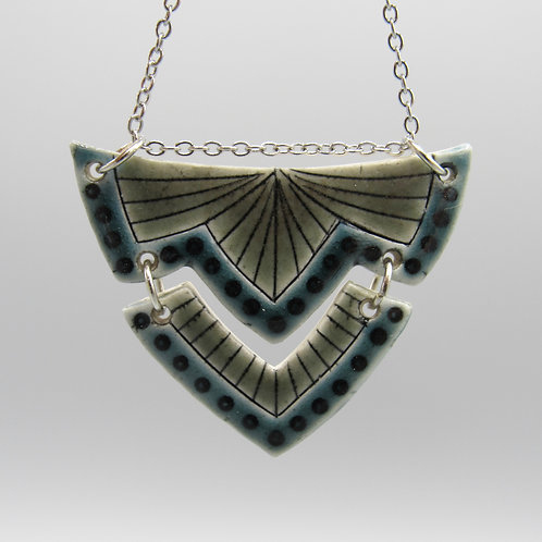 Grey & Teal Necklace