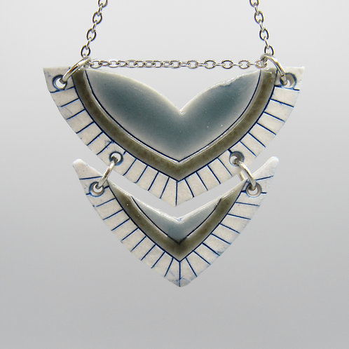 Grey & Blue Double Necklace