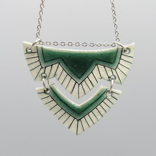 Green Double Necklace