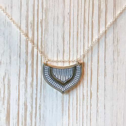 Grey & Blue Necklace