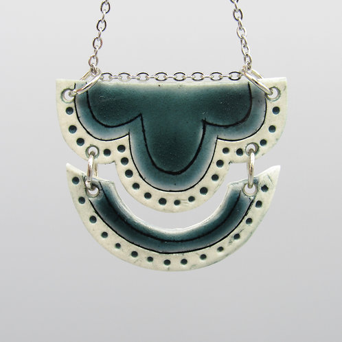 Teal Double Necklace