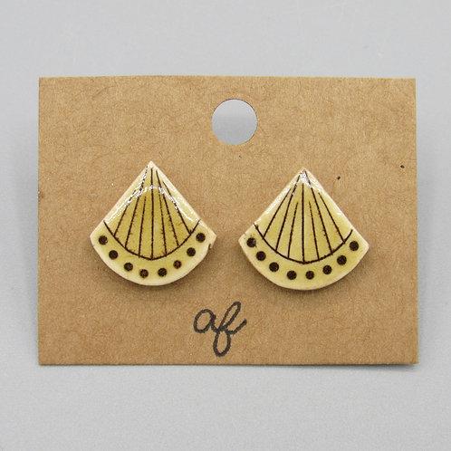 Ochre Stud Earrings