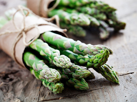Oven roasted asparagus with herb vinaigrette