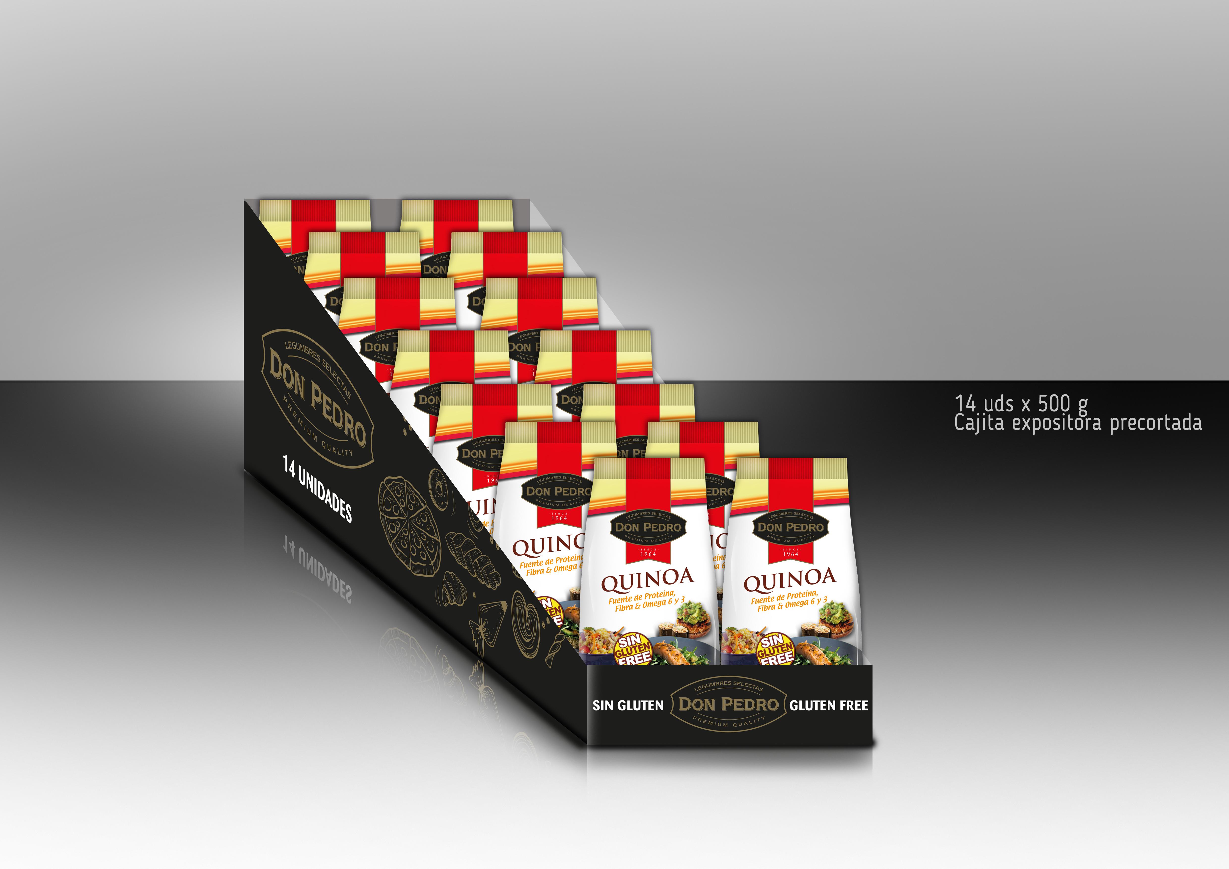 Caja expositora Quinoa 500g 14 und.