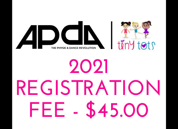 2021 APDA Tiny Tots Registration