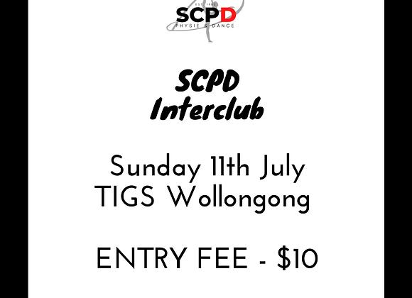 SCPD Interclub Entry Fee