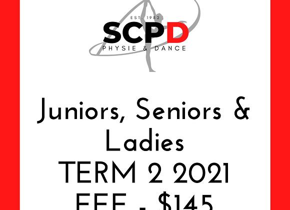 Term 2 2021 Fees - Juniors, Seniors and Ladies