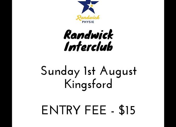 Randwick Interclub Entry Fee