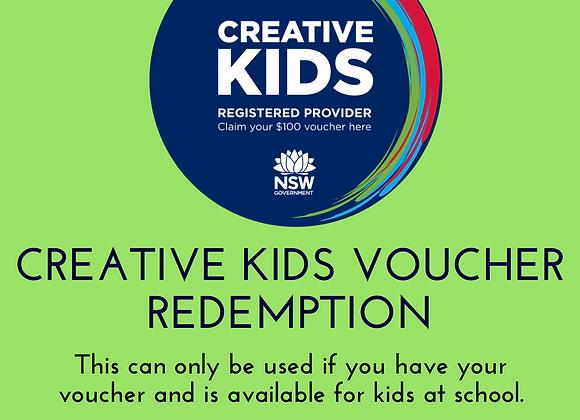 Creative Kids Voucher Redemption