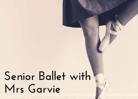 Senior Ballet with Mrs Garvie Term 2 fees 2021