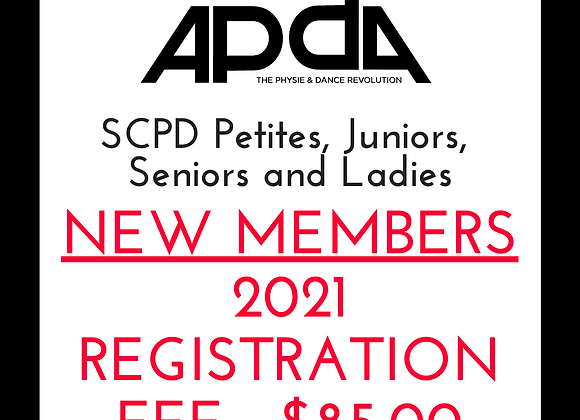 New members in 2021 APDA SCPD Petites, Juniors, Seniors and Ladies Registration
