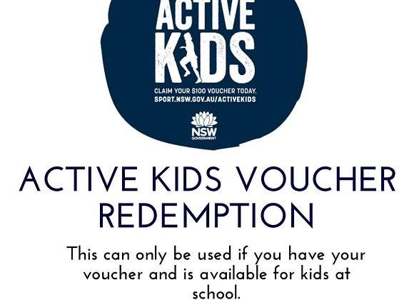 Active Kids Voucher Redemption