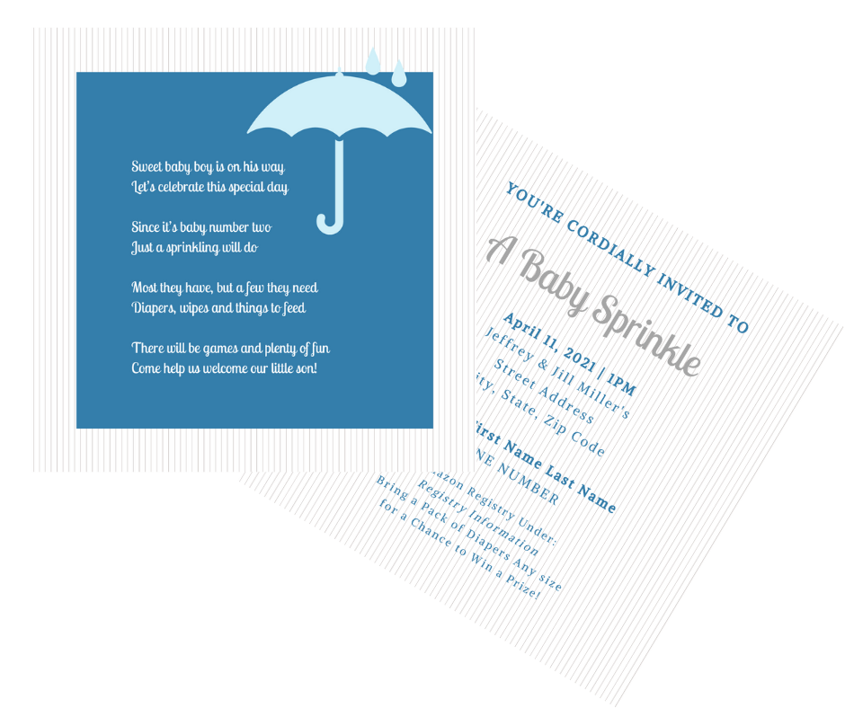 Special Occasion Invitations, Envelopes