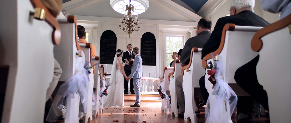 Ceremony at the chapel