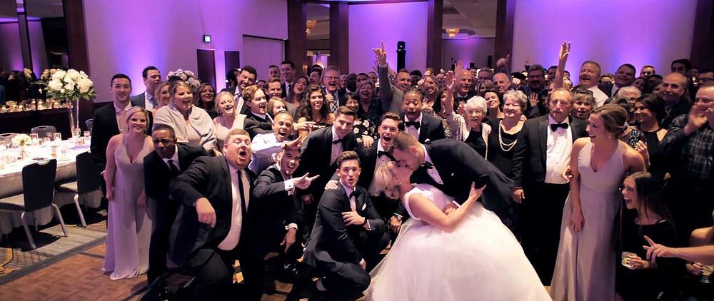 Wedding Reception Group Photo - Kansas City Wedding Videographer