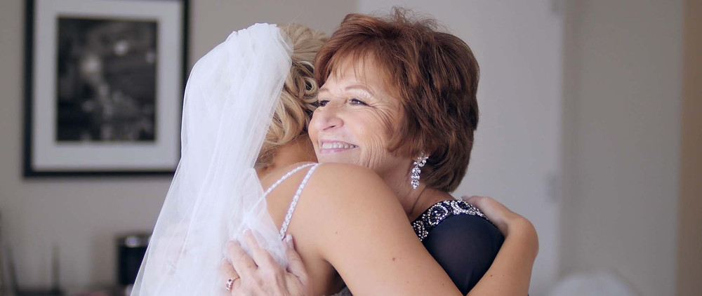 wedding day with mom