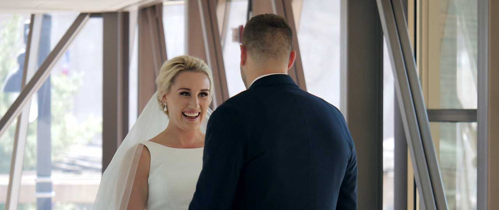First Look on the Wedding Day - Groom's REACTION