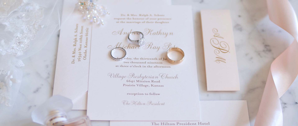 Wedding Invites, table place cards, menu design by Pretty + Planned Events