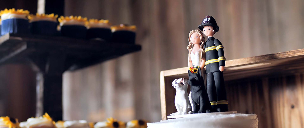 firefighter groom's cake
