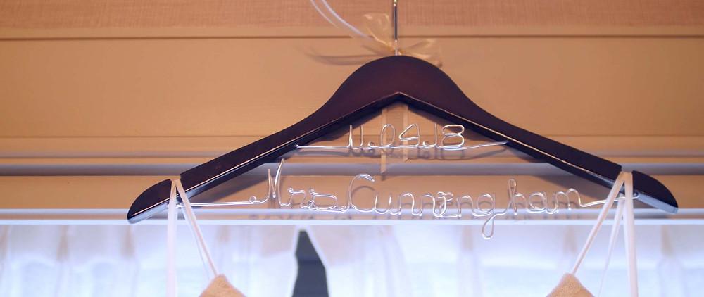 Bride's wedding hanger